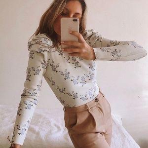 ZARA Floral sweater